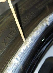 BMW X3  社外ホイール 中空リムのガリ傷補修